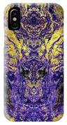 Abstract Amethyst  With Gold Marbled Texture IPhone Case