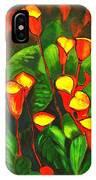 Abstract Arum Lilies IPhone Case