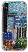 Los Angeles. Rhinestone Mosaic With Beadwork IPhone Case