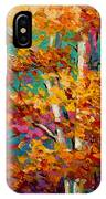 Abstract Autumn IIi IPhone Case