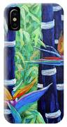 Abstract Bamboo And Birds Of Paradise 04 IPhone Case