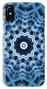 Abstract Blue 16 IPhone Case