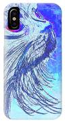 Abstract Blue Cat IPhone Case