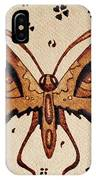 Abstract Butterfly Coffee Painting IPhone Case