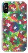 Abstract Circles With Flowers IPhone Case