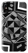 Abstract Cobblestone Blk/wht. IPhone Case