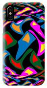 Abstract Colorful Art Exploded View Of Whirlwind At Its Builds On Dry Leaves IPhone Case