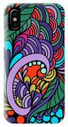 Abstract Colorful Floral Design IPhone Case