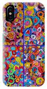 Abstract Colorful Flowers 4 IPhone Case