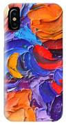 Abstract Colorful Flowers Impasto Palette Knife Modern Impressionist Oil Painting Ana Maria Edulescu IPhone Case