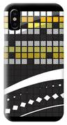 Abstract Crossword Puzzle Squares On Black IPhone Case