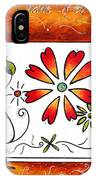 Abstract Decorative Greeting Card Art Thank You By Madart IPhone Case