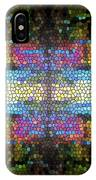 Abstract Digital Shapes Colourful Stained Glass Texture IPhone Case