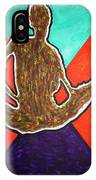 Abstract Ebony Nude Sitting IPhone Case