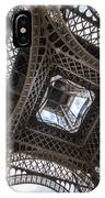 Abstract Eiffel Tower Looking Up 2 IPhone Case