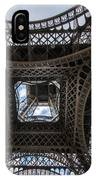 Abstract Eiffel Tower Looking Up IPhone Case