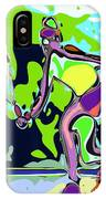 Abstract Female Tennis Player 2 IPhone Case