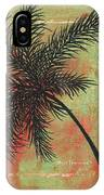 Abstract Floral Fauna Palm Tree Leaf Tropical Palm Splash Abstract Art By Megan Duncanson  IPhone Case