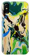 Abstract Flow Green-blue Series No.1 IPhone Case