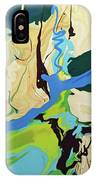 Abstract Flow Green-blue Series No.2 IPhone Case