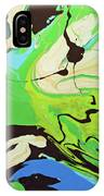 Abstract Flow Green-blue Series No.3 IPhone Case