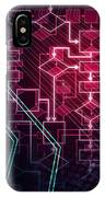 Abstract Flowchart Background IPhone Case