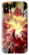 Abstract Flower IPhone Case by Denise Tomasura