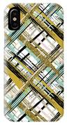Abstract Gold Lines IPhone Case