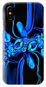 Abstract In Blue 3 IPhone Case