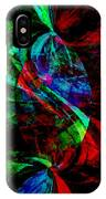 Abstract In Red And Green IPhone Case