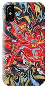 Abstract In Red IPhone Case