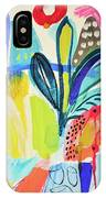 Abstract Jungle And Wild Flowers IPhone Case