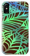 Abstract Leaves Cocoa Green IPhone Case