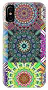 Abstract Mandala Collage IPhone Case