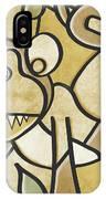 Funky Monkey - Zeeko Abstract Monkey IPhone Case