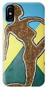Abstract Nude Ebony In Heels IPhone Case