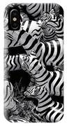 Abstract Of Zebras Statue In Various Sizes  IPhone Case