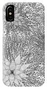 Abstract Pen And Ink Design In Black And White IPhone Case