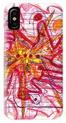 Abstract Pen Drawing Fifteen IPhone Case