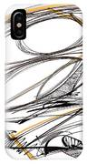 Abstract Pen Drawing Four IPhone Case