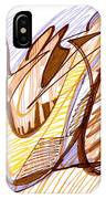 Abstract Pen Drawing Nine IPhone Case