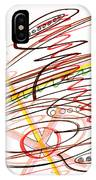 Abstract Pen Drawing Seven IPhone Case