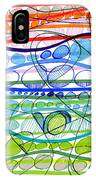 Abstract Pen Drawing Sixteen IPhone Case