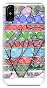 Abstract Pen Drawing Thirteen IPhone Case
