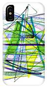 Abstract Pen Drawing Thirty IPhone Case