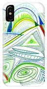 Abstract Pen Drawing Thirty-two IPhone Case