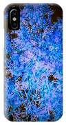 Abstract Pf Tree In Blue And Black IPhone Case