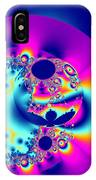 Abstract Pink And Turquoise Fractal Globe IPhone Case