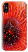 Abstract Poppy IPhone Case