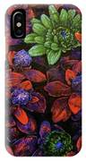 Abstract Purple Flowers IPhone Case